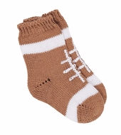 Florence Eiseman Baby Boys Tan Sweater Knit Football Socks