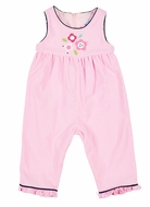 Florence Eiseman Baby Girls Pink Corduroy Ruffle Romper with Flowers