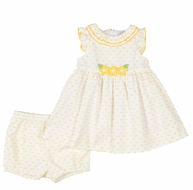 Florence Eiseman Baby Girls Sunshine Yellow Ruffle Dress with Bloomers