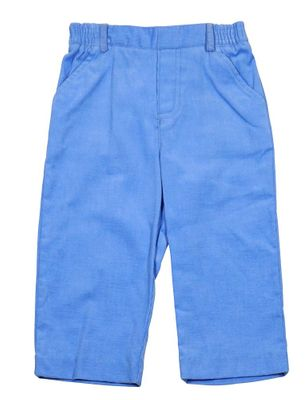 Florence Eiseman Baby / Toddler Boys Blue Corduroy Pull On Pants - Faux Fly