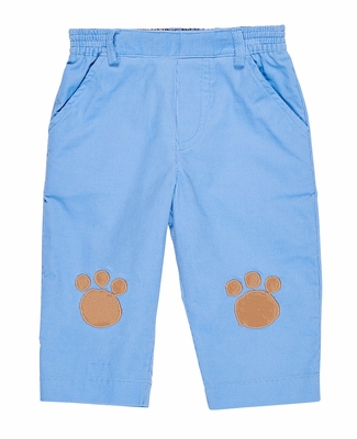 Florence Eiseman Baby / Toddler Boys Blue Corduroy Pants with Puppy Dog Paws on Knees