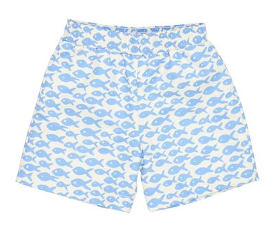 Florence Eiseman Baby / Toddler Boys Blue Fish Print Swim Trunks