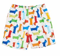 Florence Eiseman Baby / Toddler Boys Pull On Shorts - Dachshund Weiner Dogs Print