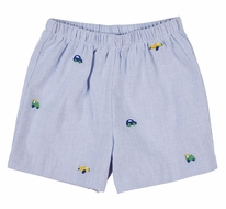 Florence Eiseman Baby / Toddler Boys Blue Shorts - Embroidered Vehicles