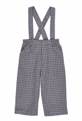 Florence Eiseman Baby / Toddler Boys Gray Check Suspender Pants