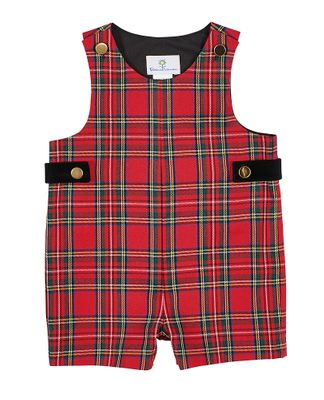 Florence Eiseman Baby / Toddler Boys Holiday Red Plaid Shortall