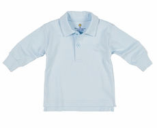 Florence Eiseman Baby / Toddler Boys Long Sleeved Polo Shirt - Light Blue