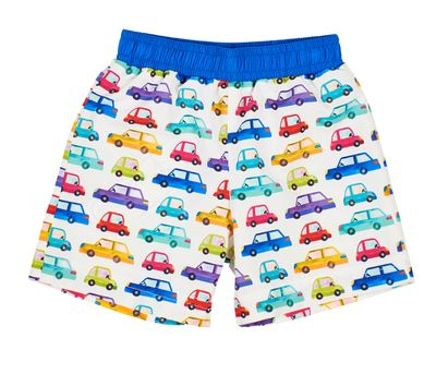 Florence Eiseman Baby / Toddler Boys Multi Color Car Print Swim Trunks
