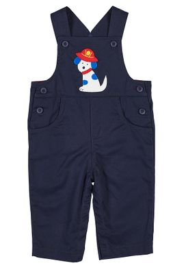 Florence Eiseman Baby / Toddler Boys Navy Blue Twill Longall - Dalmatian Dog