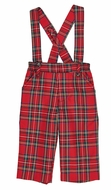 Florence Eiseman Baby / Toddler Boys Red Holiday Plaid Suspender Pants - Removable Suspenders