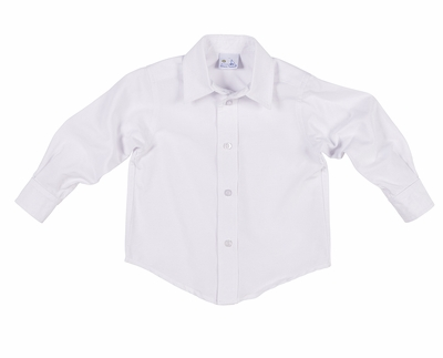 Florence Eiseman Baby / Toddler Boys White Oxford Dress Shirt
