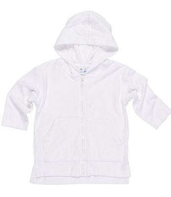 Florence Eiseman Baby / Toddler Boys White Terry Cover Up with Hood