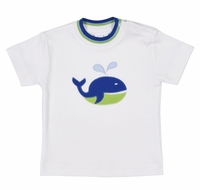Florence Eiseman Baby / Toddler Boys White Shirt - Blue Whale