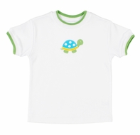 Florence Eiseman Baby / Toddler Boys White Shirt - Green Turtle