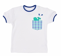 Florence Eiseman Baby / Toddler Boys White Shirt with Whale in Pocket