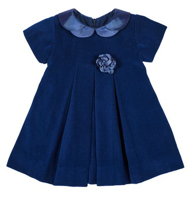 Florence Eiseman Baby / Toddler Girls Royal Blue Velvet Dress