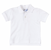 Florence Eiseman Boys Classic Short Sleeved Polo Shirt - White