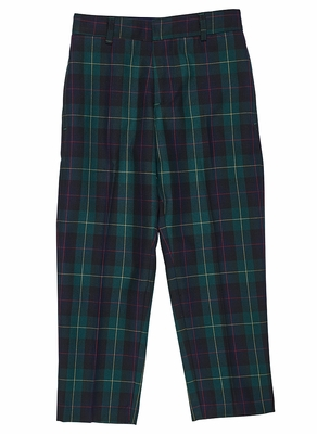 Florence Eiseman Boys Green / Navy Blue Plaid Dress Pants