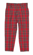 Florence Eiseman Boys Red Tartan Plaid Slacks Pants