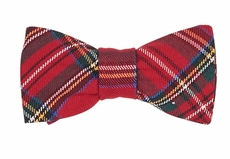 Florence Eiseman Boys Red Holiday Plaid Bow Tie