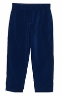 Florence Eiseman Boys Royal Blue Velvet Skinny Pants