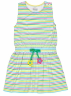 Florence Eiseman Girls Blue / Pink / Yellow Stripe Cover Up Dress