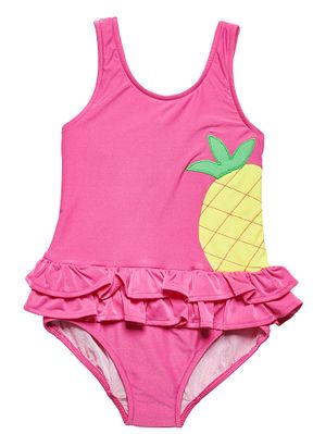 Florence Eiseman Girls Hot Pink Ruffle Swimsuit - Big Yellow Pineapple