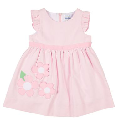 Florence Eiseman Girls Pink Pique Dress with Flowers