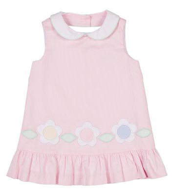 Florence Eiseman Girls Pink Pique Sleeveless Dress - Flowers