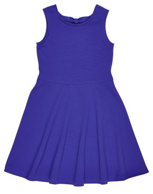 Florence Eiseman Girls Purple Techno Knit Sleeveless Dress - Back Bows