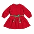 Florence Eiseman Girls Red Corduroy Christmas Present Rick Rack Dress