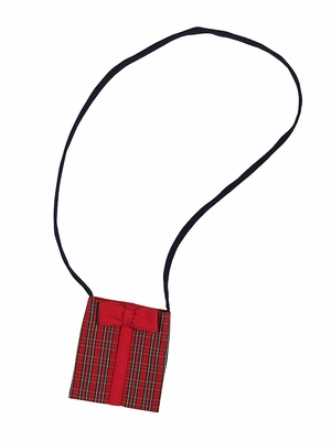 Florence Eiseman Girls Red Holiday Plaid Christmas Present Purse