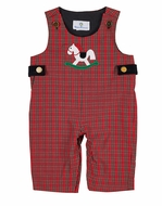 Florence Eiseman Infant Boys Red Holiday Plaid Longall - Rocking Horse
