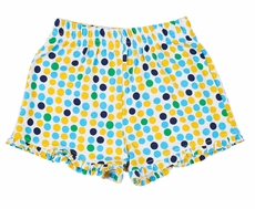 Florence Eiseman Knits Girls Yellow / Blue Dots Shorts