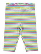 Florence Eiseman Knitwear - Girls Colorful Stripes Capri Leggings