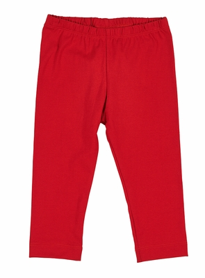 Florence Eiseman Knitwear - Girls Red Leggings with Bows on Back