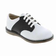Footmates Childrens Shoes - Cheer Saddle Oxford - White / Black