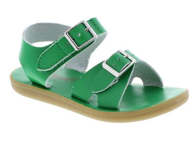 Footmates Childrens Shoes - Tide Sandals - Kelly Green