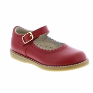 Footmates Girls Shoes - Allie Mary Janes - Apple Red