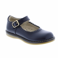 Footmates Girls Shoes - Allie Mary Janes - Navy Blue