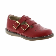 Footmates Girls Shoes - Danielle Double Strap - Apple Red