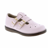 Footmates Girls Shoes - Danielle Double Strap - Rose Pink