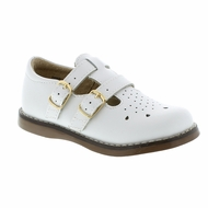 Footmates Girls Shoes - Danielle Double Strap - White