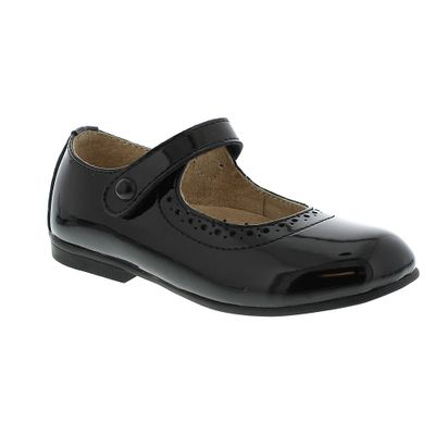 Footmates Girls Shoes - Emma Mary Janes - Black Patent