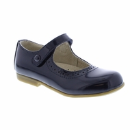 Footmates Girls Shoes - Emma Mary Janes - Navy Blue Patent