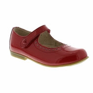 Footmates Girls Shoes - Emma Mary Janes - Red Patent