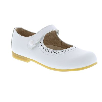 Footmates Girls Shoes - Emma Mary Janes - White