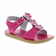 Footmates Girls Shoes - Jasmine Flower Sandals - Hot Pink