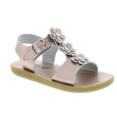 Footmates Girls Shoes - Jasmine Flower Sandals - Rose Gold