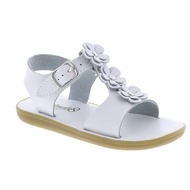 Footmates Girls Shoes - Jasmine Sandals - White